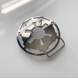 Star Wars Empire Symbol silver belt buckle